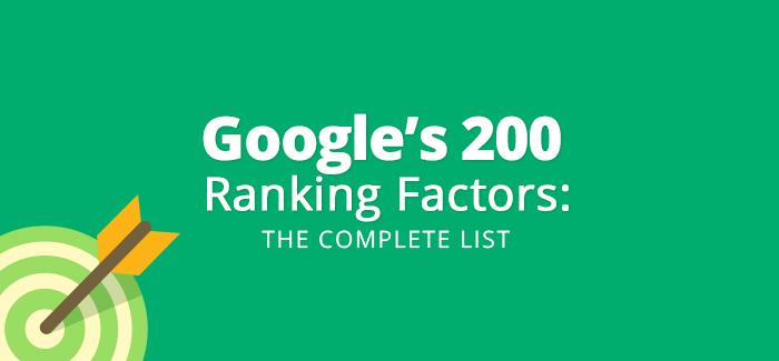 200 факторов ранжирования Google 2015