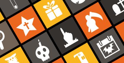6 наборов флэт-иконок на тему Хэллоуин