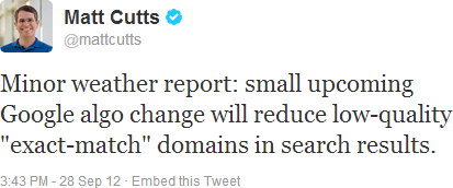 Matt Cutts report