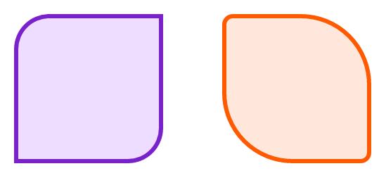 Разный радиус скругления с border-radius