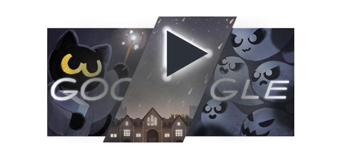 Google Doodle на Хэллоуин 2016: уничтожаем призраков