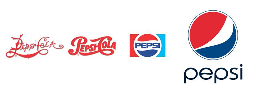 Развитие логотипа Pepsi