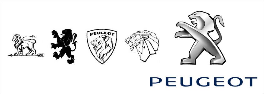 Эволюция знака Peugeot